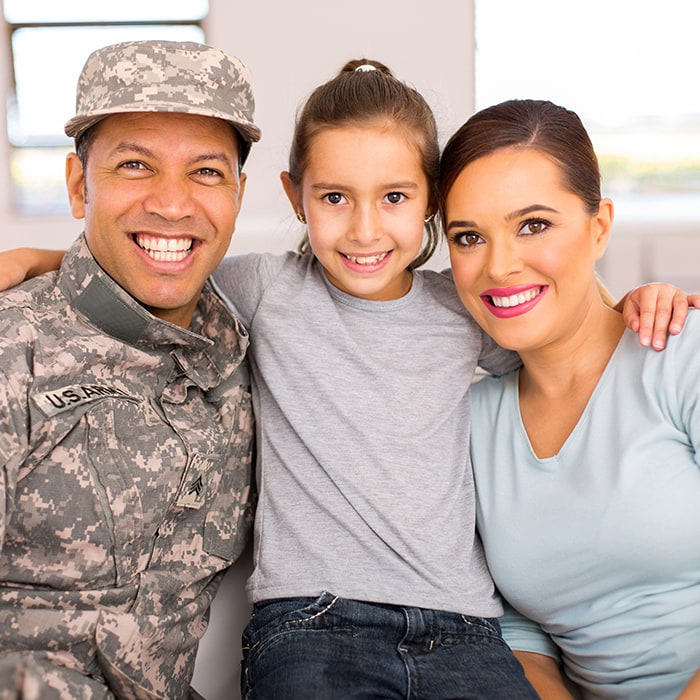 Young Veteran Family
