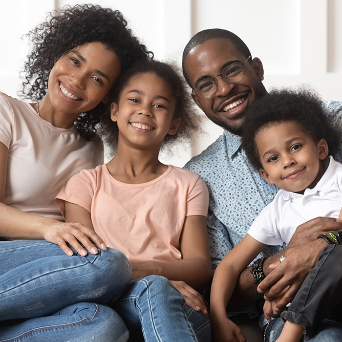 Young African American Family