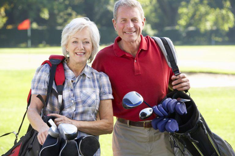 Account Protection Senior Couple Golfing
