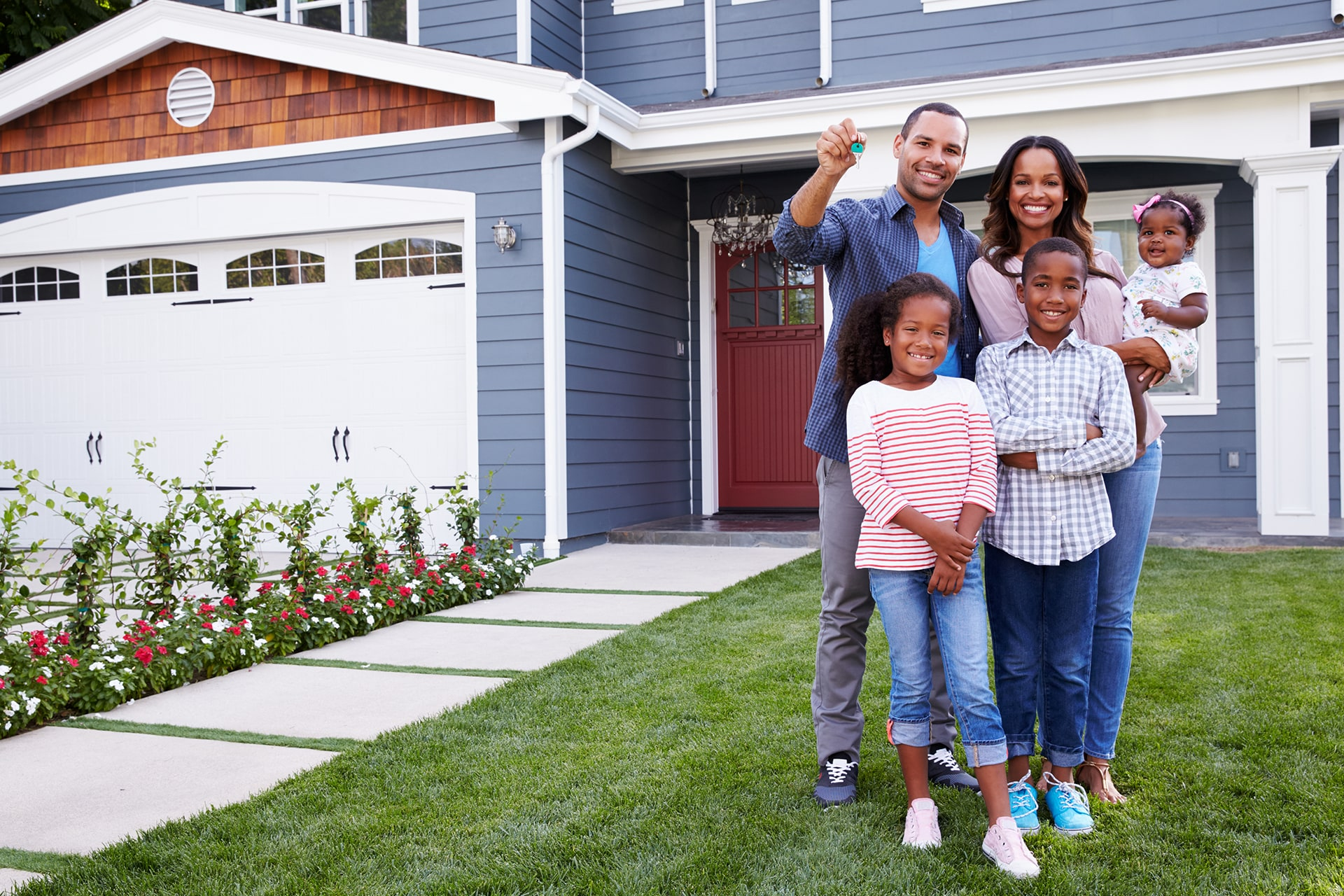 Young African American Family New Home