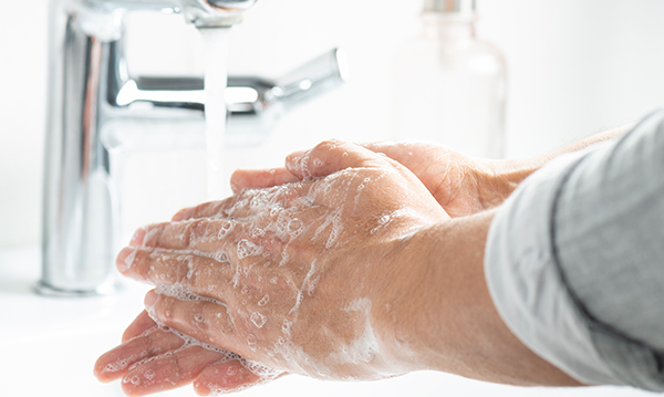 photo of washing hands