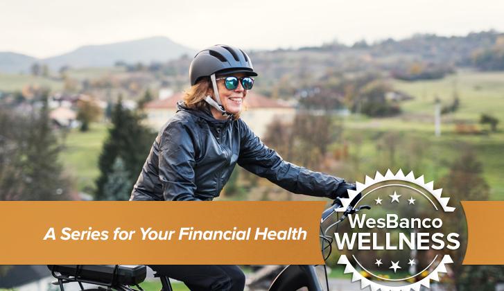 WesBanco Wellness: Woman biking through countryside