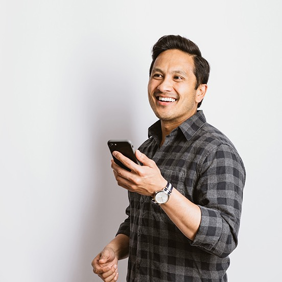 Customer banking on a cell phone